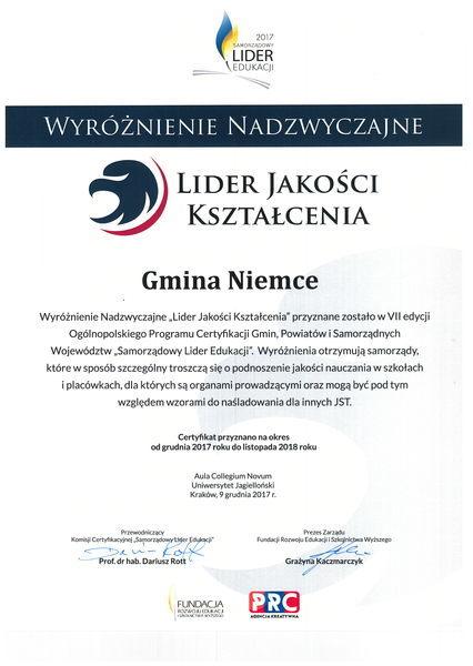 Samorządowy Lider Edukacji 2017