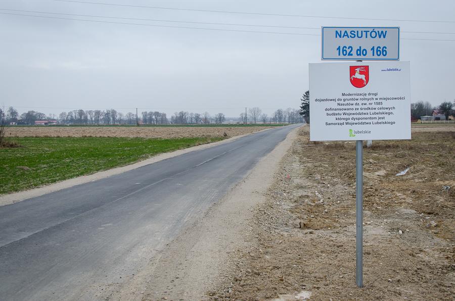 Modernizacja drogi w Nasutowie