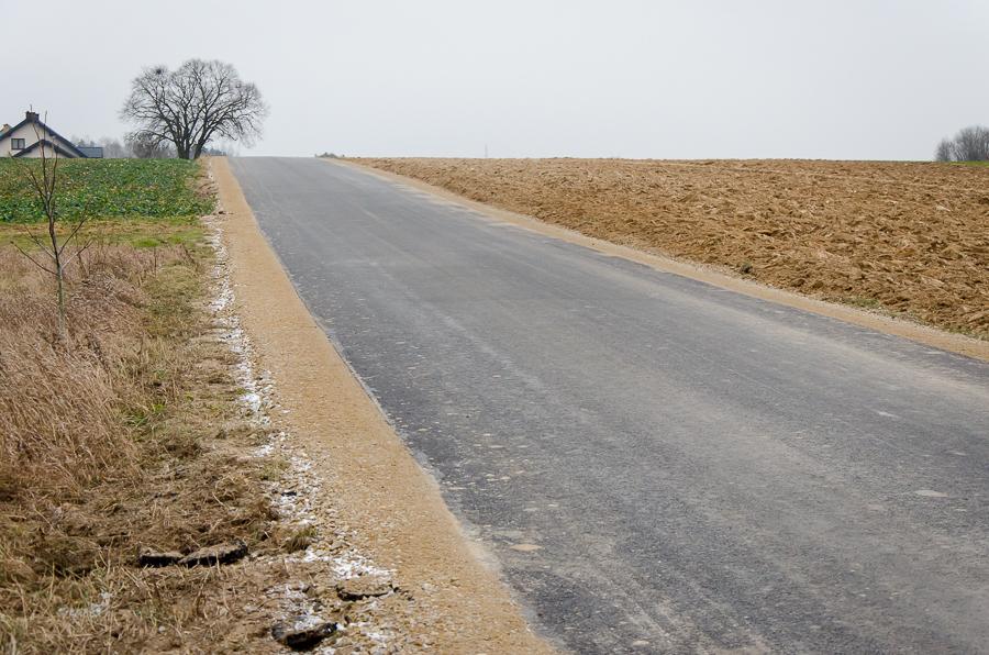 Przebudowa drogi w Baszkach
