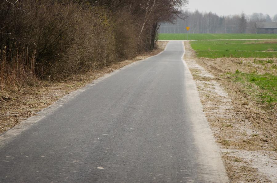 Przebudowa drogi w Krasieninie
