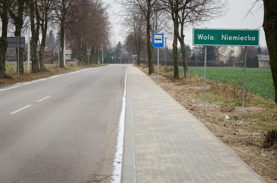 Budowa chodnika - Wola Niemiecka