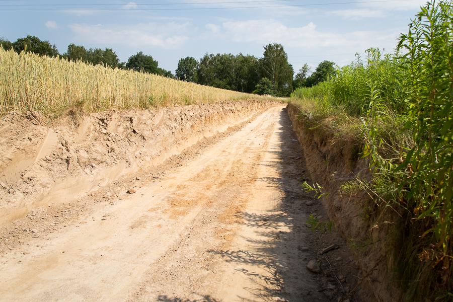 Budowa drogi Łagiewniki - Ciecierzyn