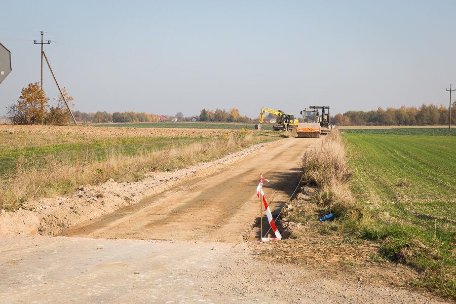 Modernizacja drogi w Rudce Kozłowieckiej