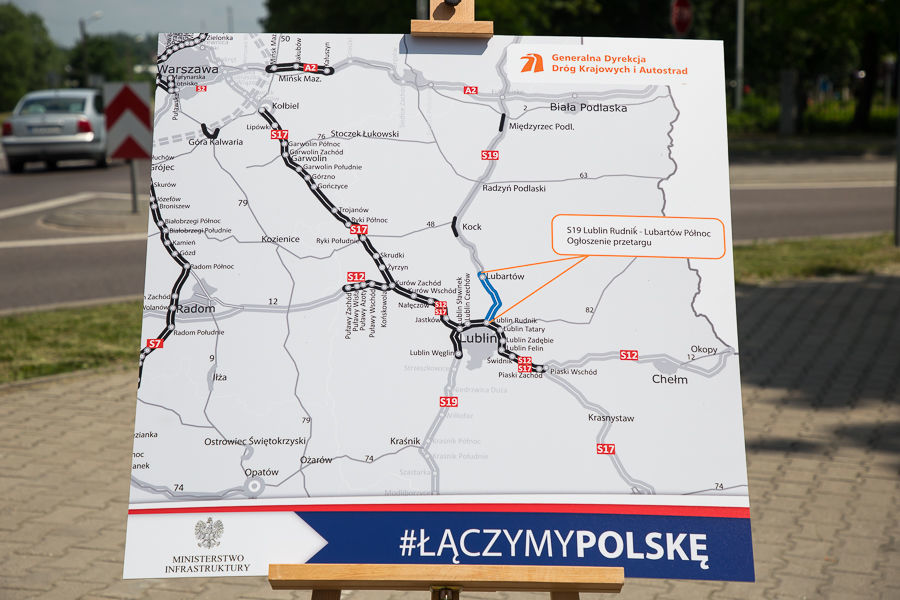 Konferencja prasowa ws. drogi ekspresowej S19