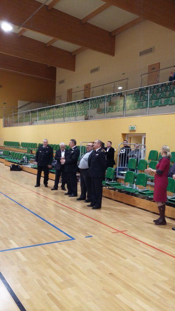 V Powiatowy Turniej Piłki Nożnej Halowej Jednostek KSRG Powiatu Biłgorajskiego opuchar Prezesa Zarządu Oddziału Powiatowego Związku OSP RP wBiłgoraju
