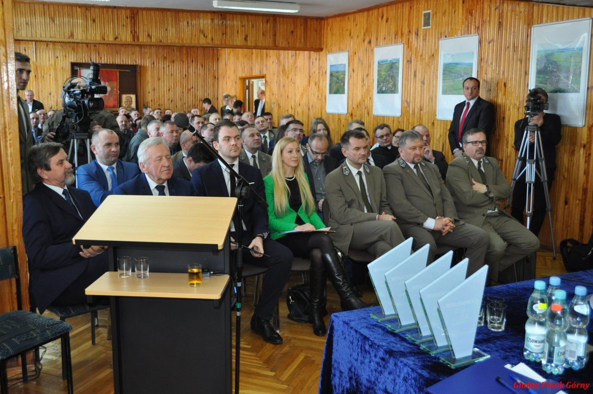 Uroczysta sesja Rad Gmin Potok Górny iBiszcza