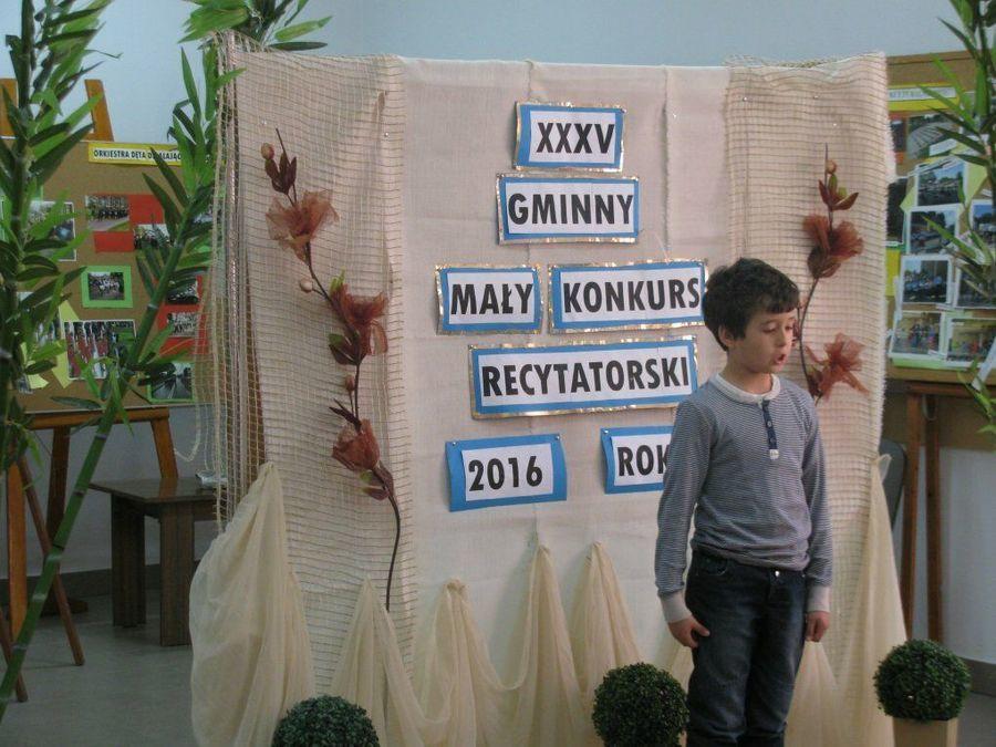 XXXV  Gminny Mały Konkurs Recytatorski