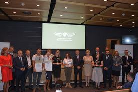 Na zdjęciu znajdują się wszyscy laureaci plebiscytu Lubelski Lider Bezpieczeństwa 2020