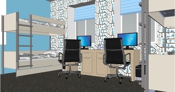 Projekt pomieszczenia wykonany w programie