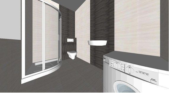 Projekt łazienki wykonany w programie