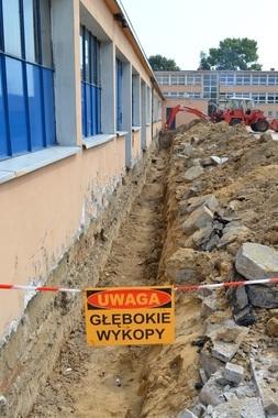 Budynek internatu przy Zespole Szkół Zawodowych nr 1 im. W. Korżyka w Rykach.