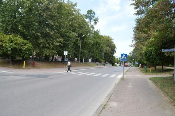 Osoba na przejściu dla pieszych