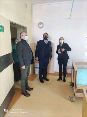 Wizyta Rektora lubelskiego Uniwersytetu Medycznego w Szpitalu Powiatowym w Rykach