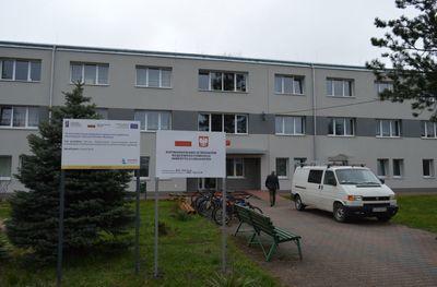 Tablice dofinansowania przed budynkiem
