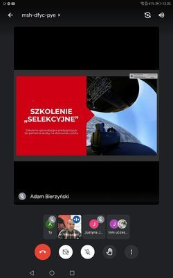 Screen ze spotkania on-line