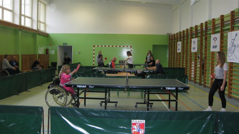 Turniej Tenisa Stołowego Osób Niepełnosprawnych