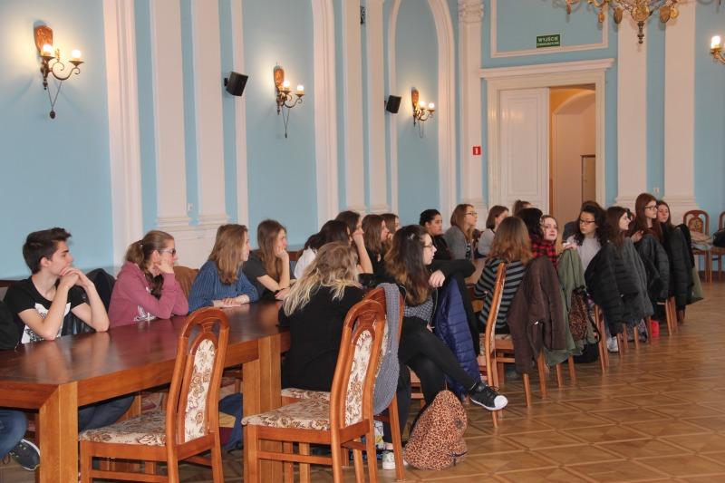 Wizyta włoskich nauczycieli i uczniów w puławskim Starostwie