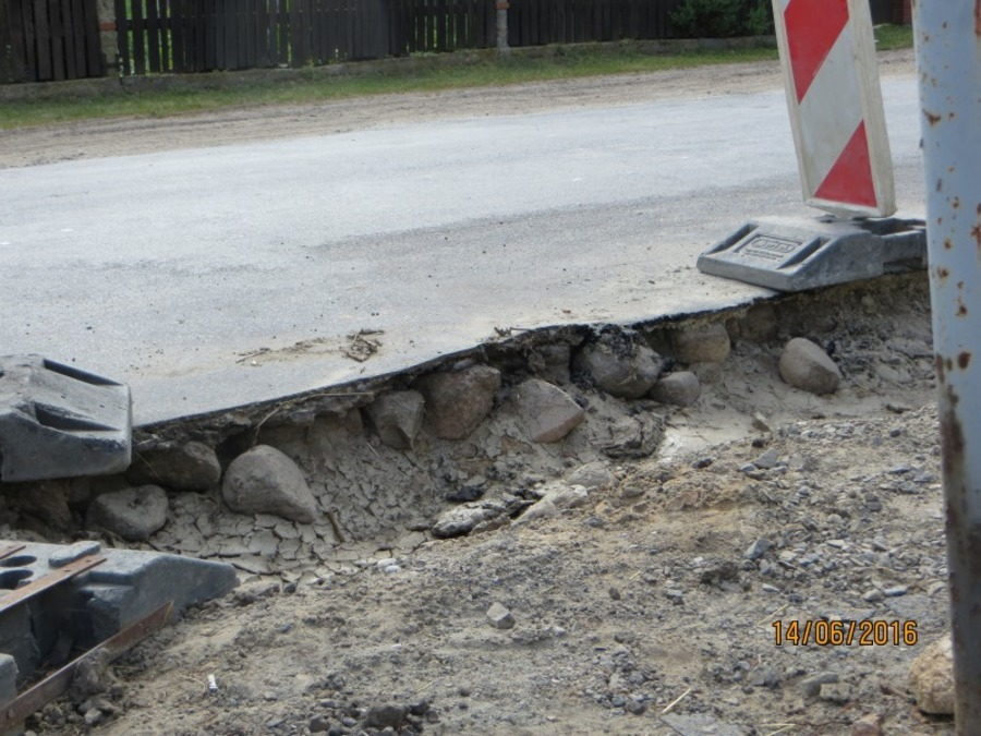 Odbiór techniczny drogi nr 2515 L (ul. Czołnowska) w Baranowie