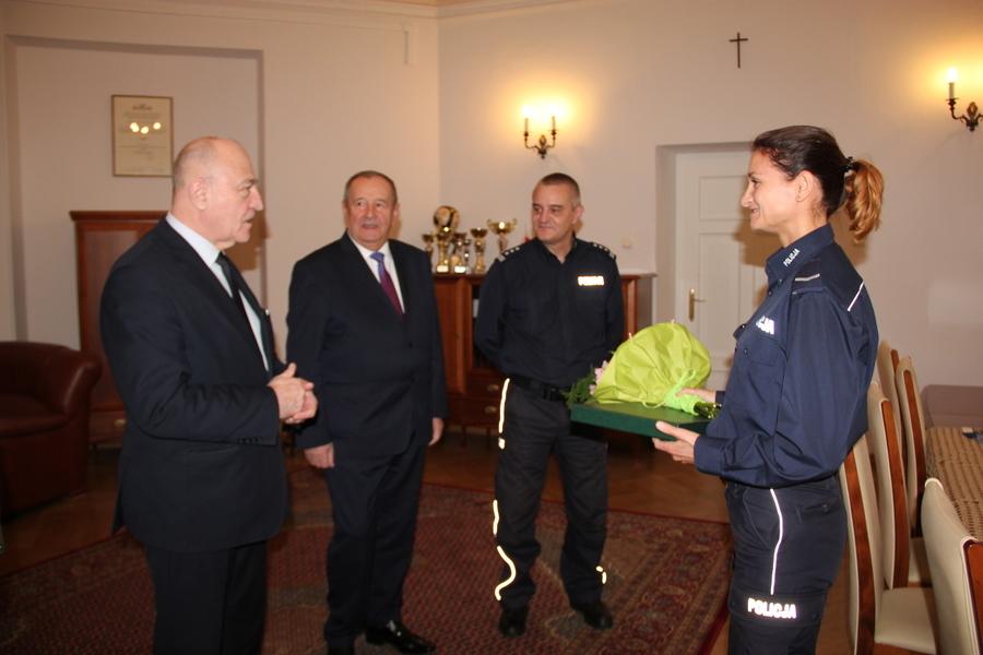 Starosta Puławski Witold Popiołek spotkał się z Danutą Woszczek