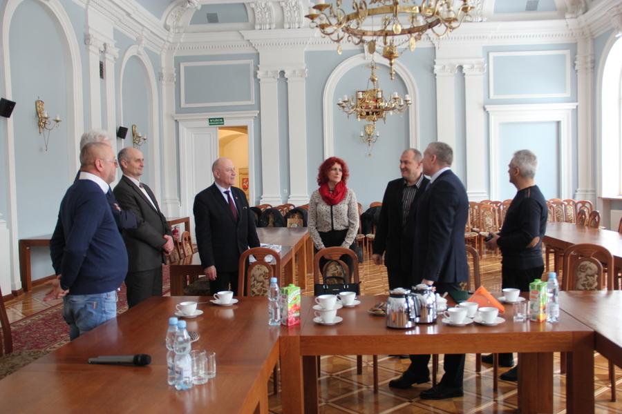 Ukraińska delegacja z Rejonu Młynowskiego w puławskim Starostwie