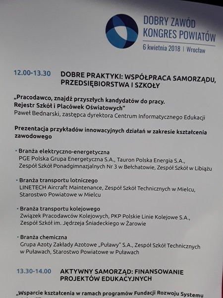 """Kongres Powiatów """"Dobry Zawód"""" we Wrocławiu"""