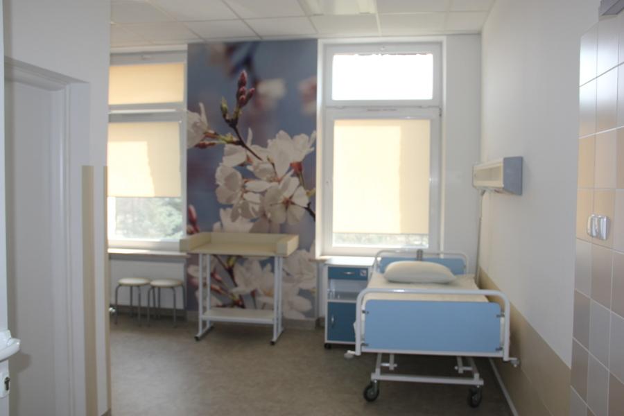 <p>Sala ginekologiczno-położniczy po remoncie</p>