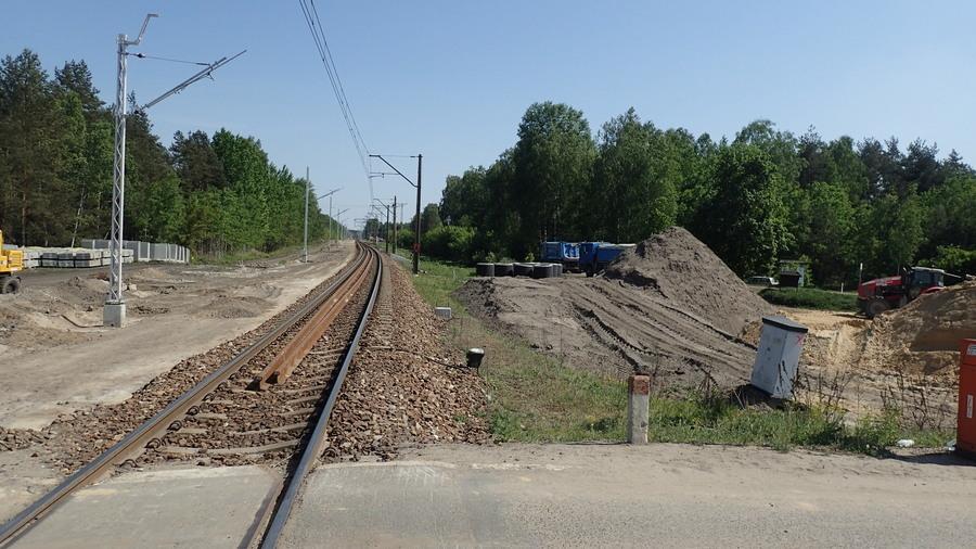 <p>Remont linii kolejowej</p>