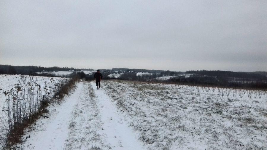 Zimowy bieg wąwozami w okolicach Wierzchoniowa, Celejowa i Witoszyna