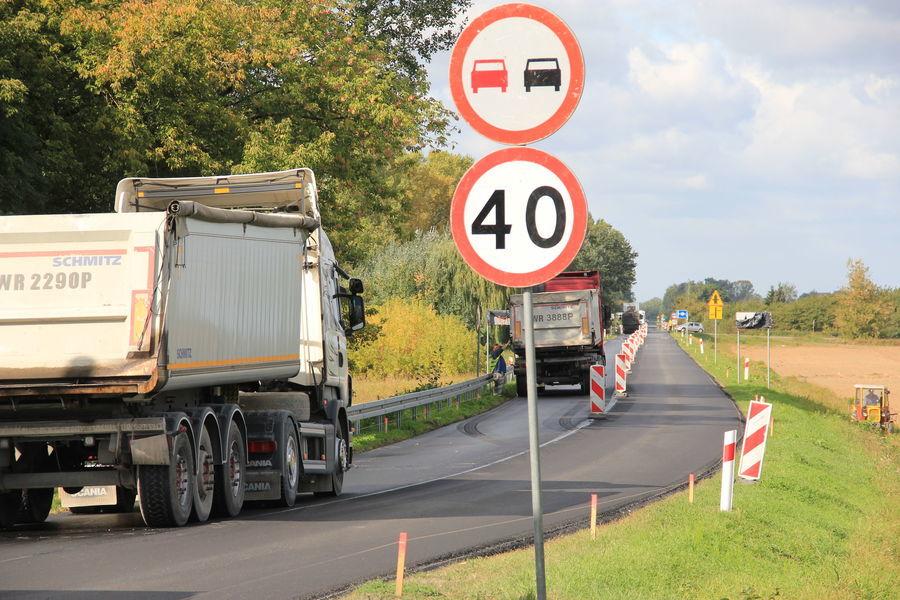 Trwa przebudowa drogi wojewódzkiej 801