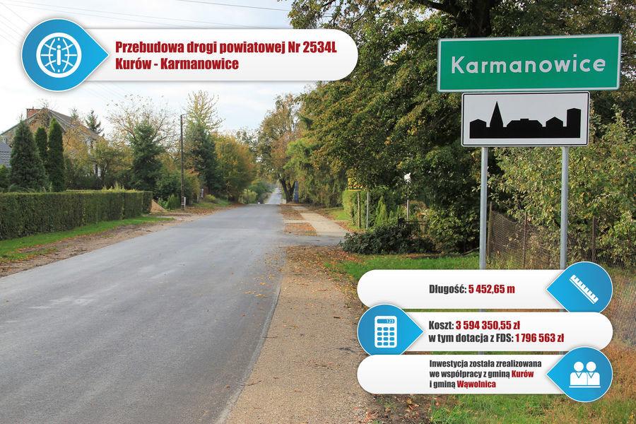 Droga powiatowa nr 2534L Kurów - Karmanowice.