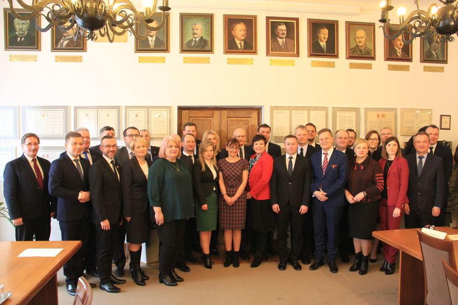 Uczestnicy konferencji dotyczącej partnerstwa w ramach Lubelskiego Obszaru Metropolitalnego