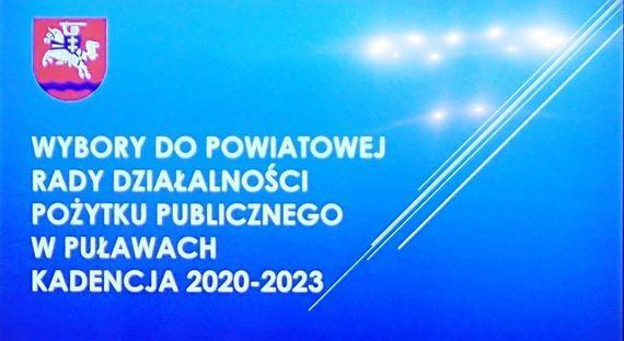 Wybory do Powiatowej Rady Działalności Pożytku Publicznego w Puławach kadencja 2020-2023