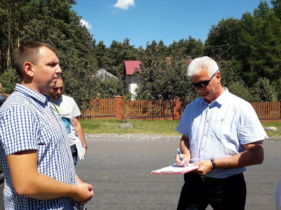 Przekazanie placu budowy drogi powiatowej z Janowca do Ławeczka Starego