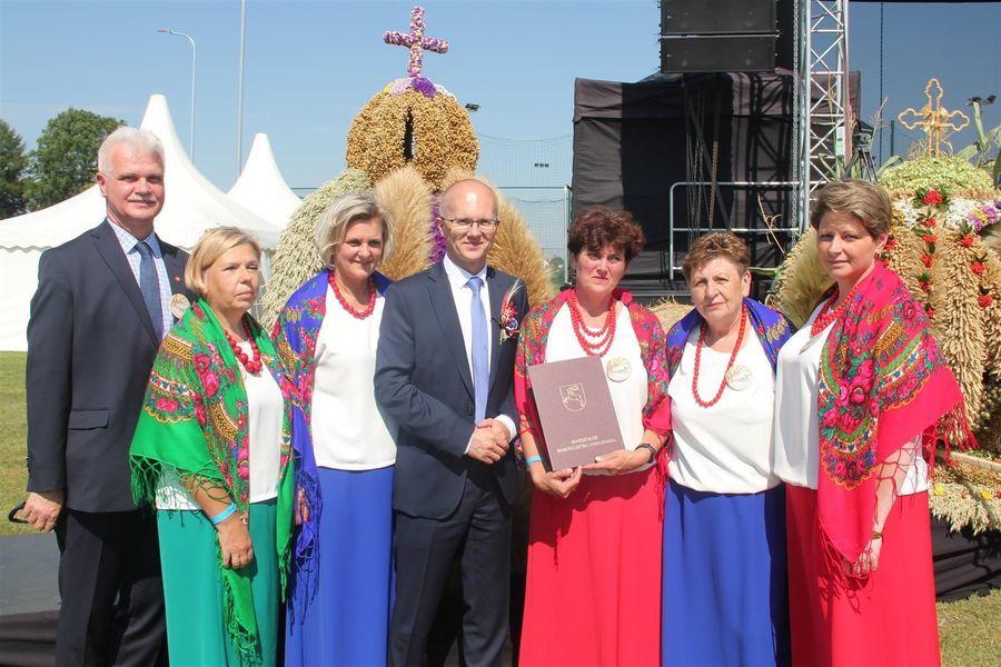 Delegacja z powiatu puławskiego z wicemarszałkiem i wicestarostą