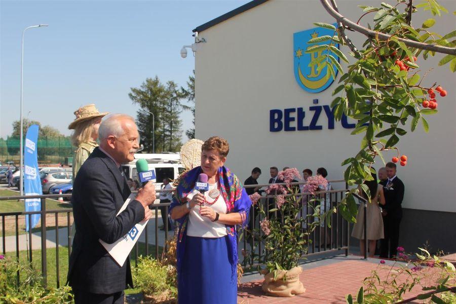 Wywiad do telewizji - Elżbieta Kozak z KGW Zagrody