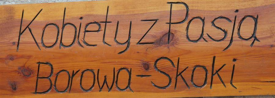 Tabliczka drewniana Kobiety z pasją Borowa - Skoki