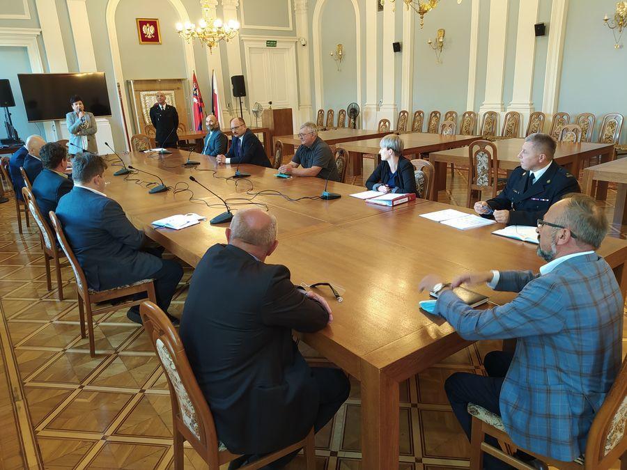 Posiedzenie Społecznego Komitetu Fundacji Sztandaru dla Komendy Powiatowej Państwowej Straży Pożarne