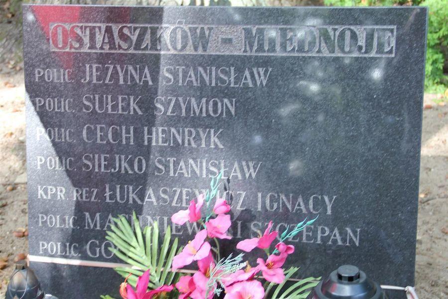 Tablica z nazwiskami pomordowanych Polaków