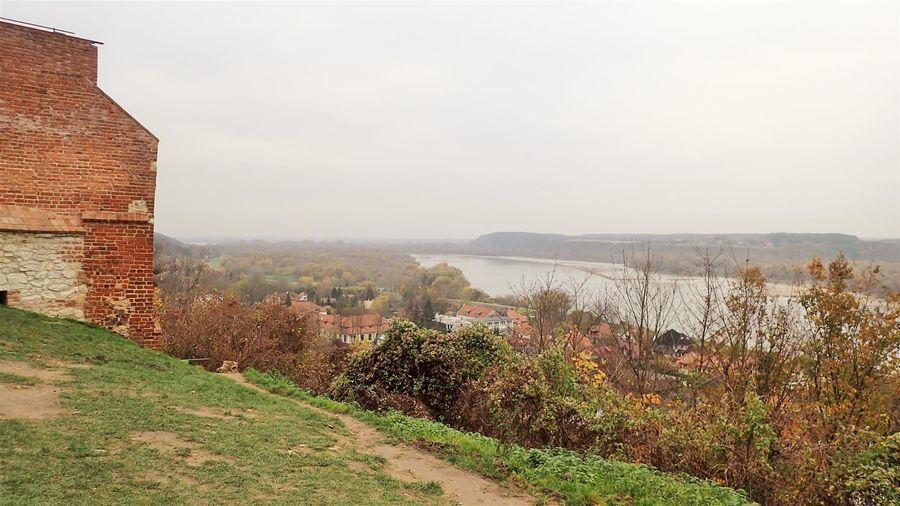Widok na Wisłę ze wzgórza zamkowego