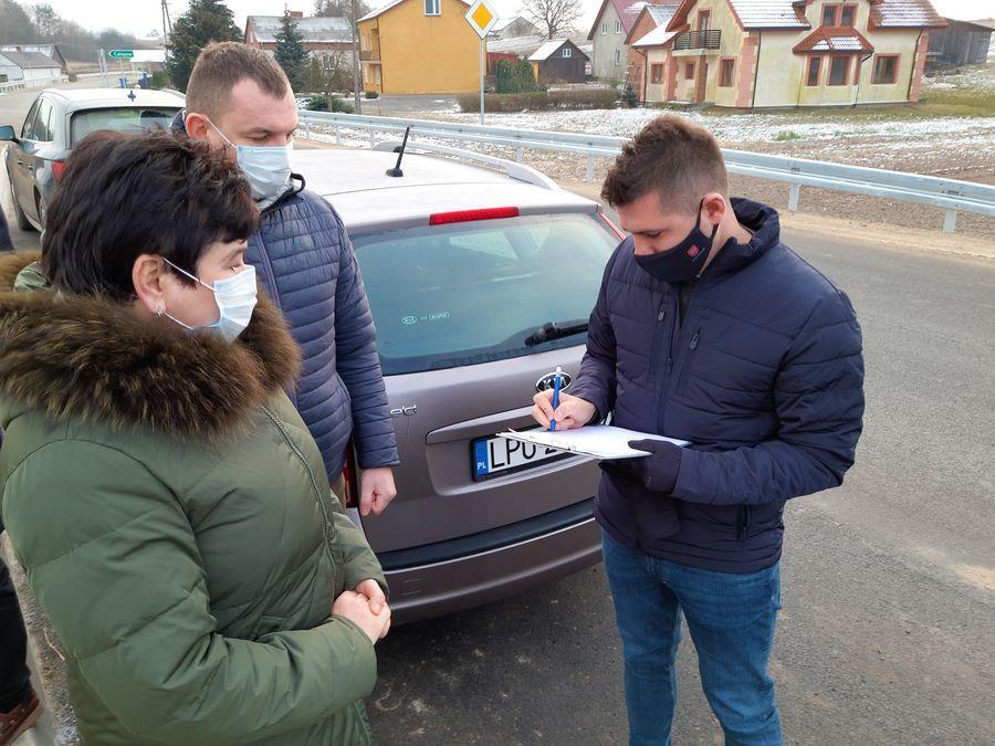 Odbiór techniczny dróg powiatowych w gminie Kazimierz Dolny