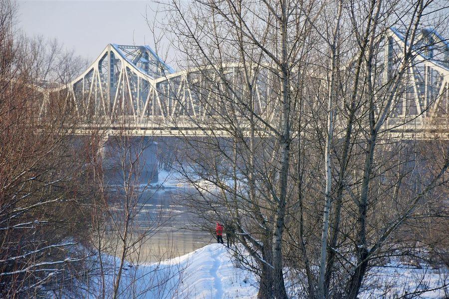 Most na Wiśle pomiędzy Puławami a Górą Puławska