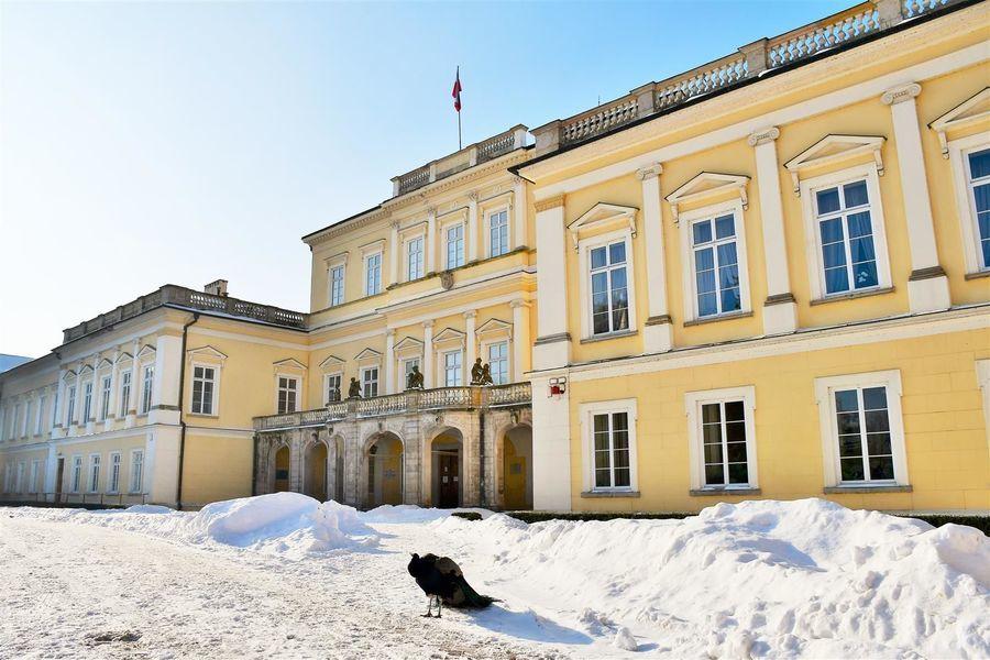 Dziedziniec Pałacu Czartoryskich w Puławach