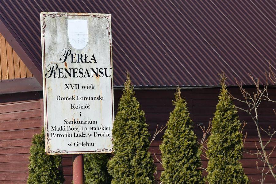 Perła renesansu - tablica informacyjna