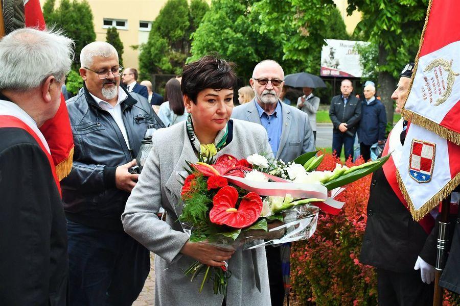 Starosta Danuta Smaga z wiceprzewodniczącym rady i członkiem zarządu