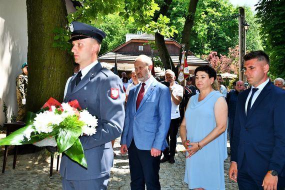 Odsłonięcie tablicy mjr. Mariana Bernaciaka