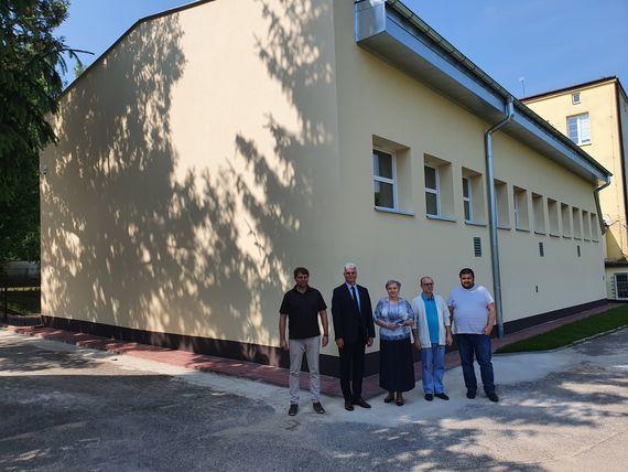 Sala gimnastycznea Zespołu Szkół nr 2 przy ul. Bolesława Prusa w Nałęczowie.