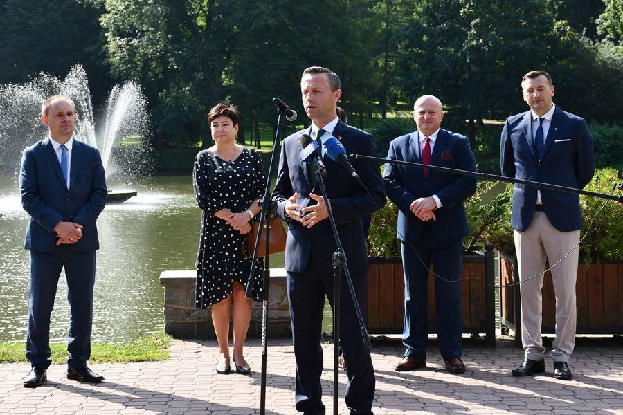Konferencja prasowa - Ogłoszenie przetargu na budowę obwodnicy Nałęczowa
