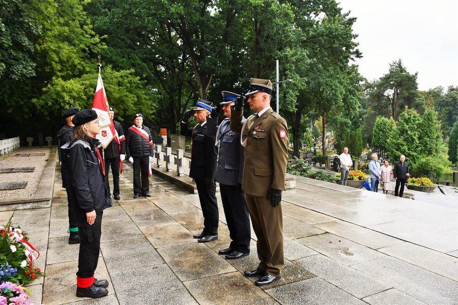 Reprezentanci służb mundurowych powiatu puławskiego