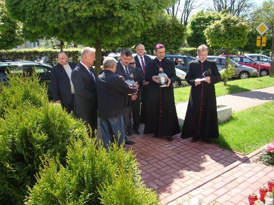 Wizyta biskupa Piotra Sawczuka w Starostwie Powiatowym w Rykach