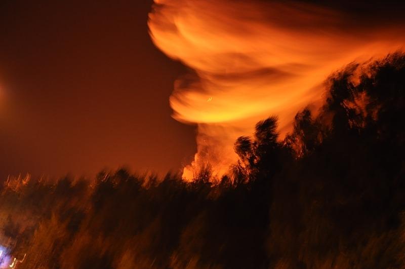 Pożar składowiska opon w Rykach